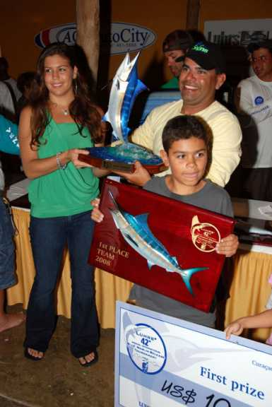 Blue Marlin Trophy and Plaque