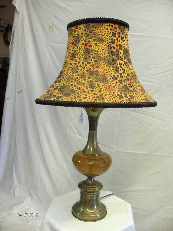 Amber Glass Lamp 20s Era $45 (Lamp Only)