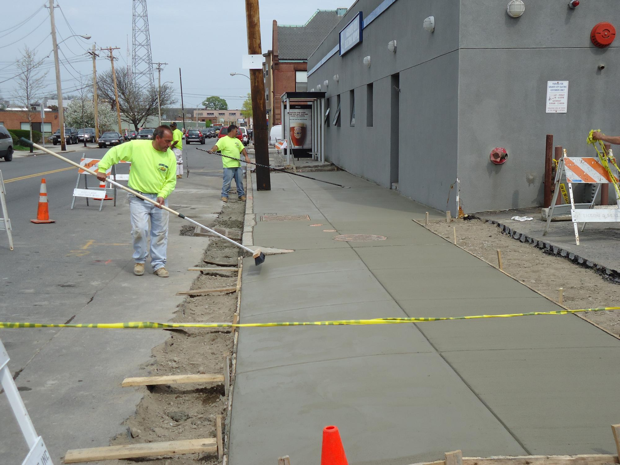 Finishing Concrete Sidewalks