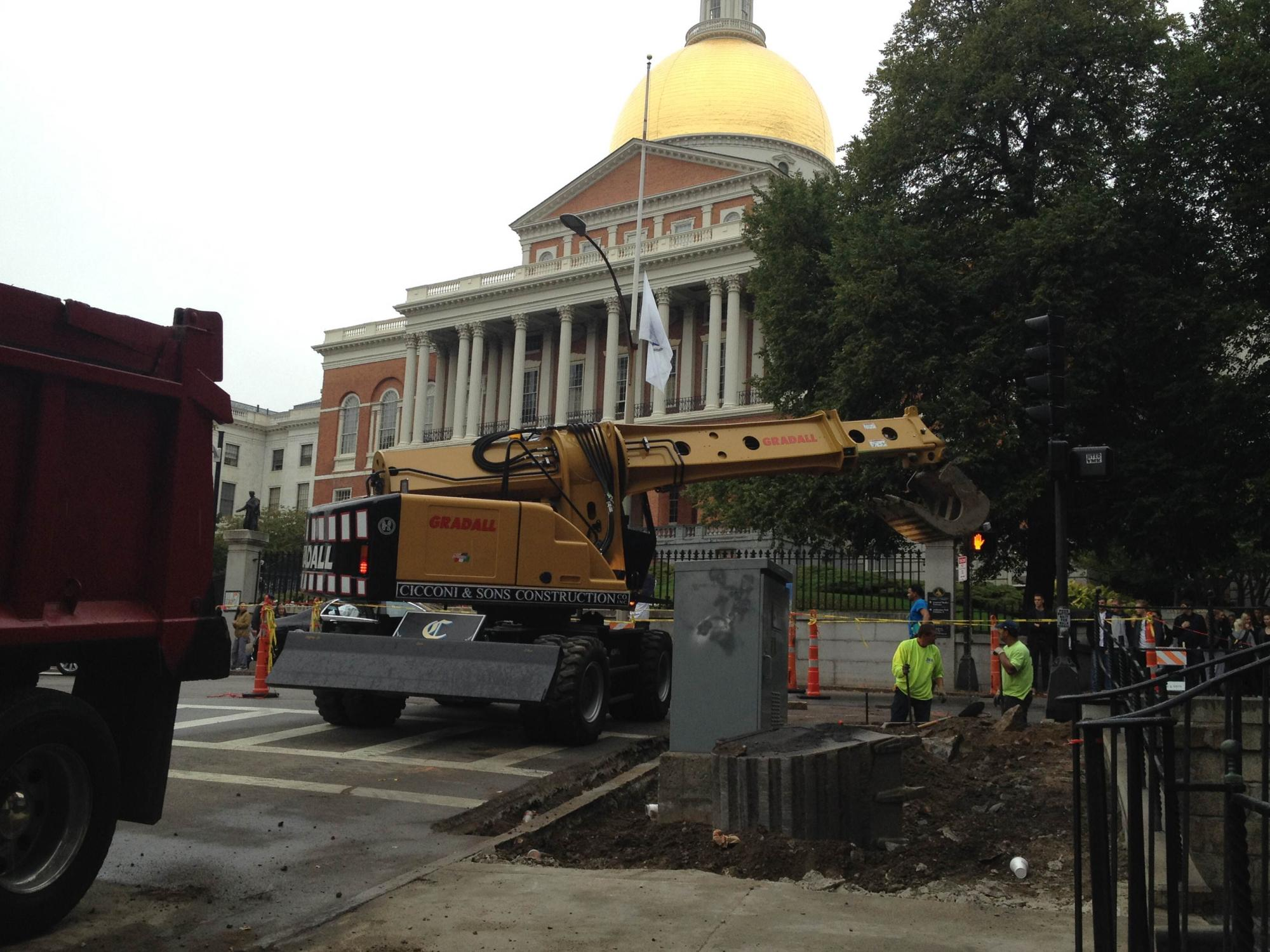 Working outside the Massachusetts State House
