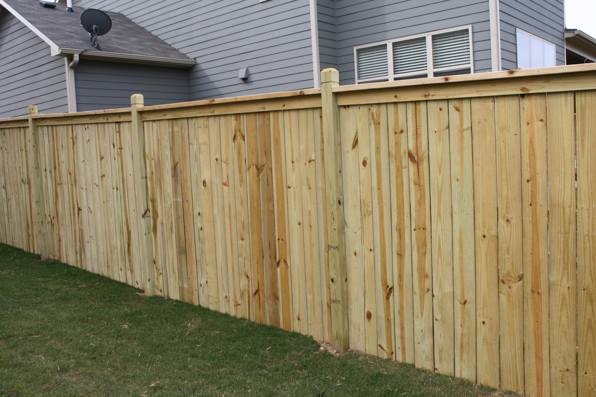 solid capped fence