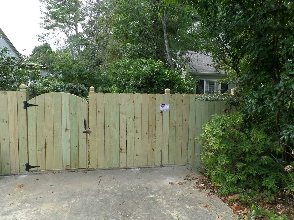 custom 5 foot double sided fence