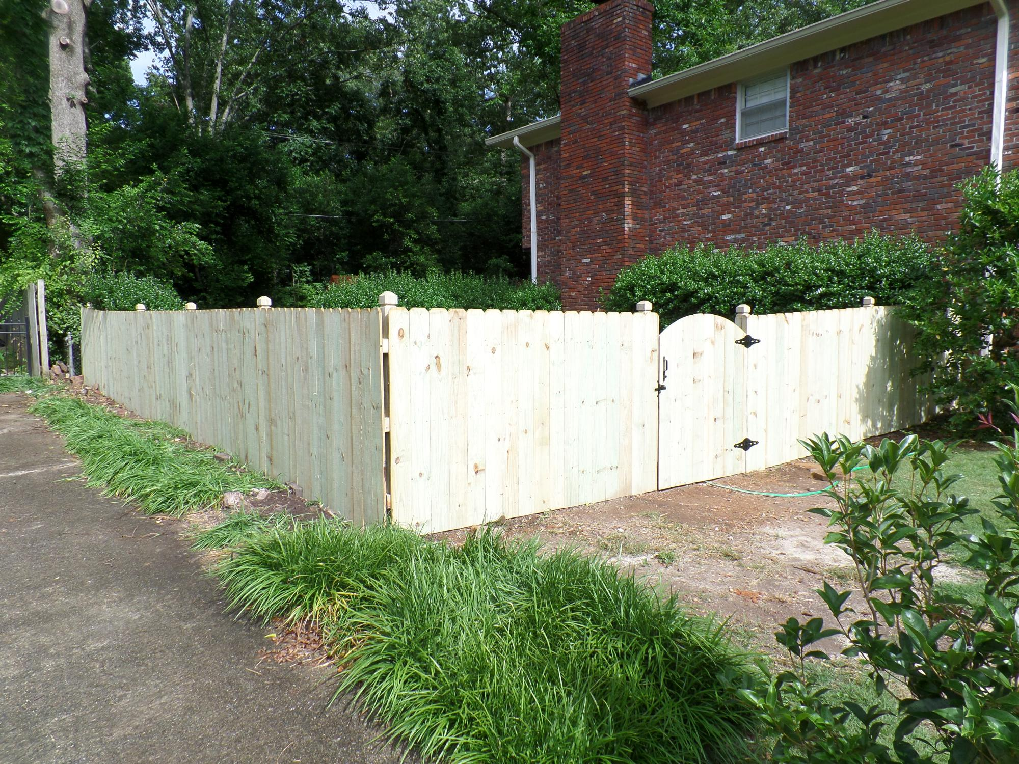 Five Foot Privacy Arched Gate