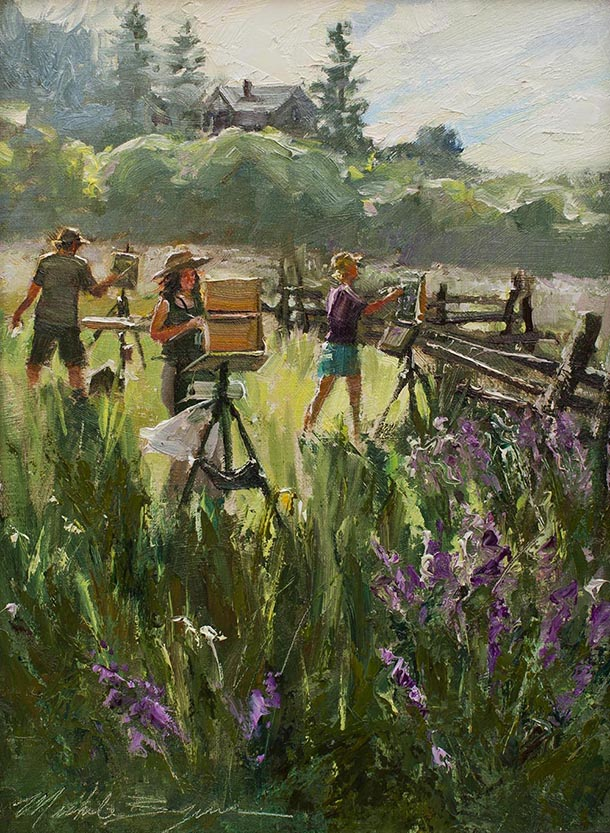 Artists Painting the Lupine, Michele Bryne