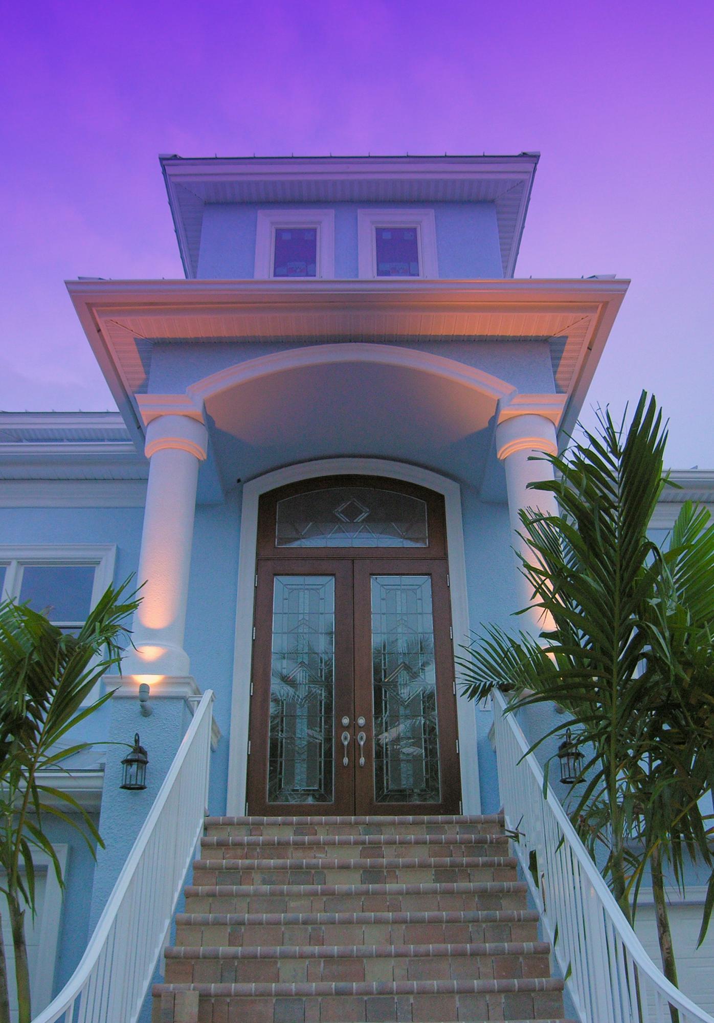 Custom Home Entry in Tierra Verde