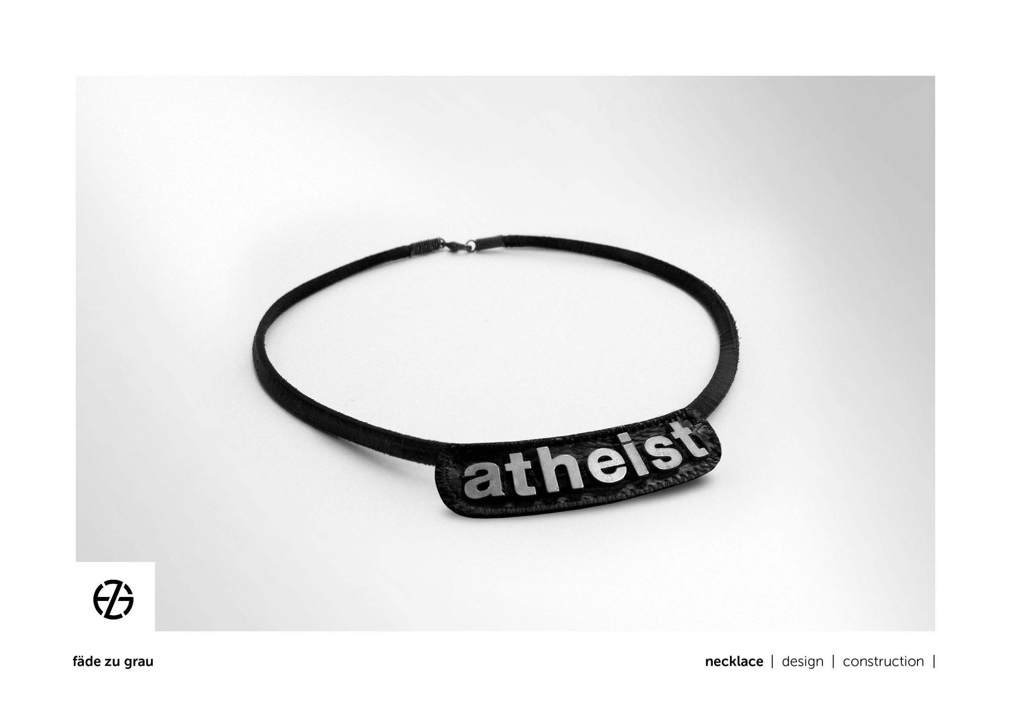 fäde zu grau | necklace 'atheist'