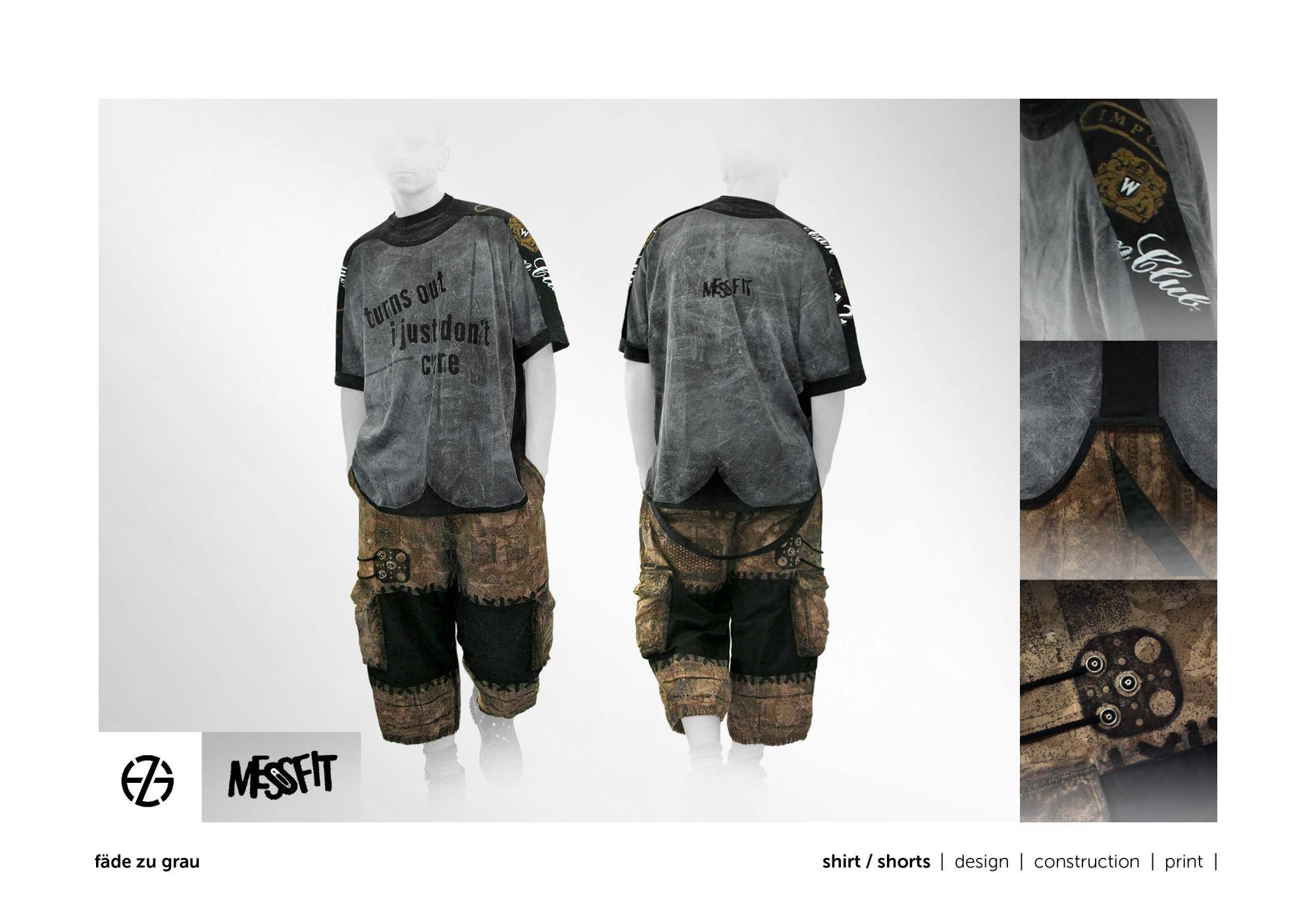 fäde zu grau | shirt, shorts
