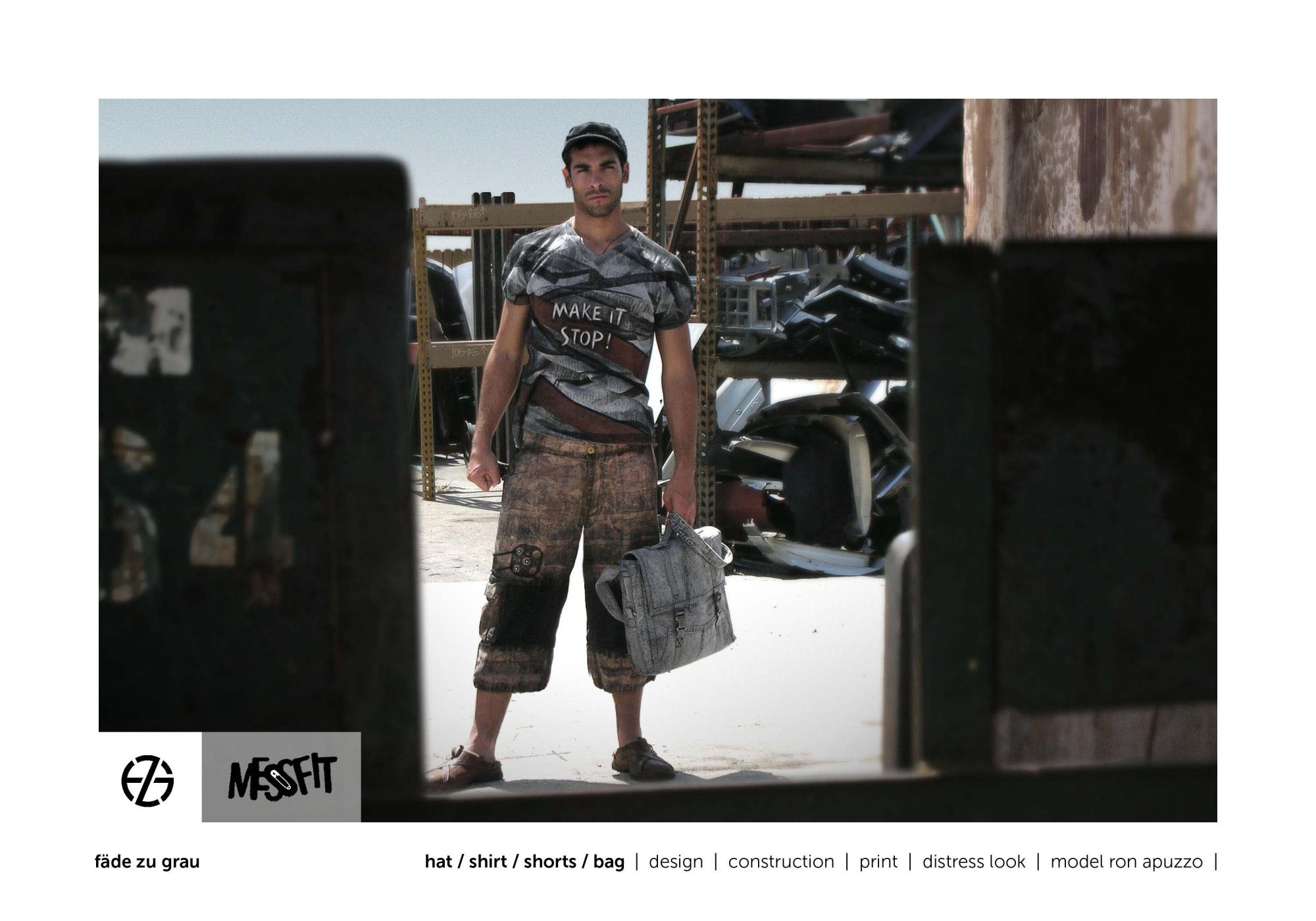 fäde zu grau | photo shoot | shirt, shorts, bag