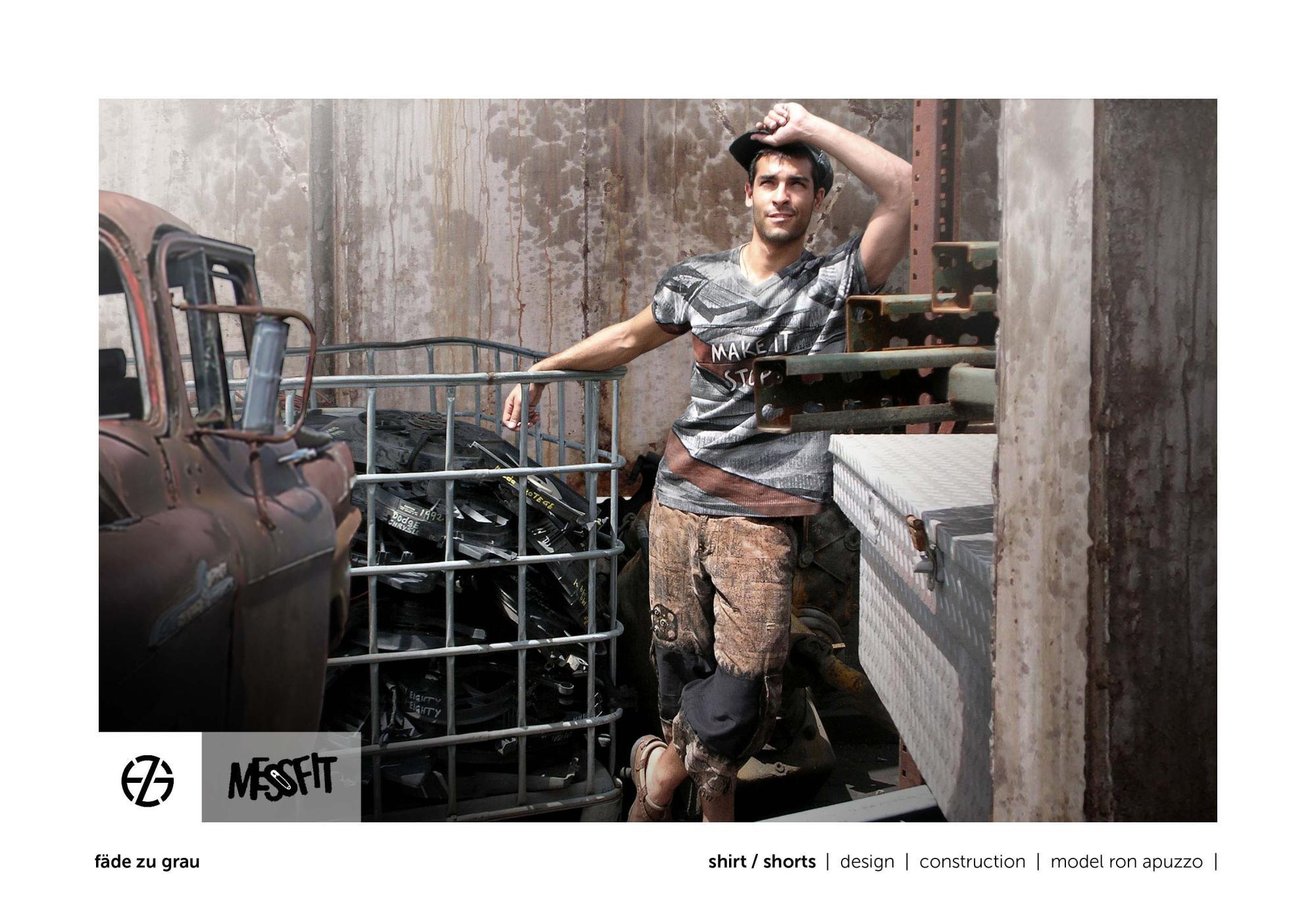 fäde zu grau | photo shoot | shirt, shorts