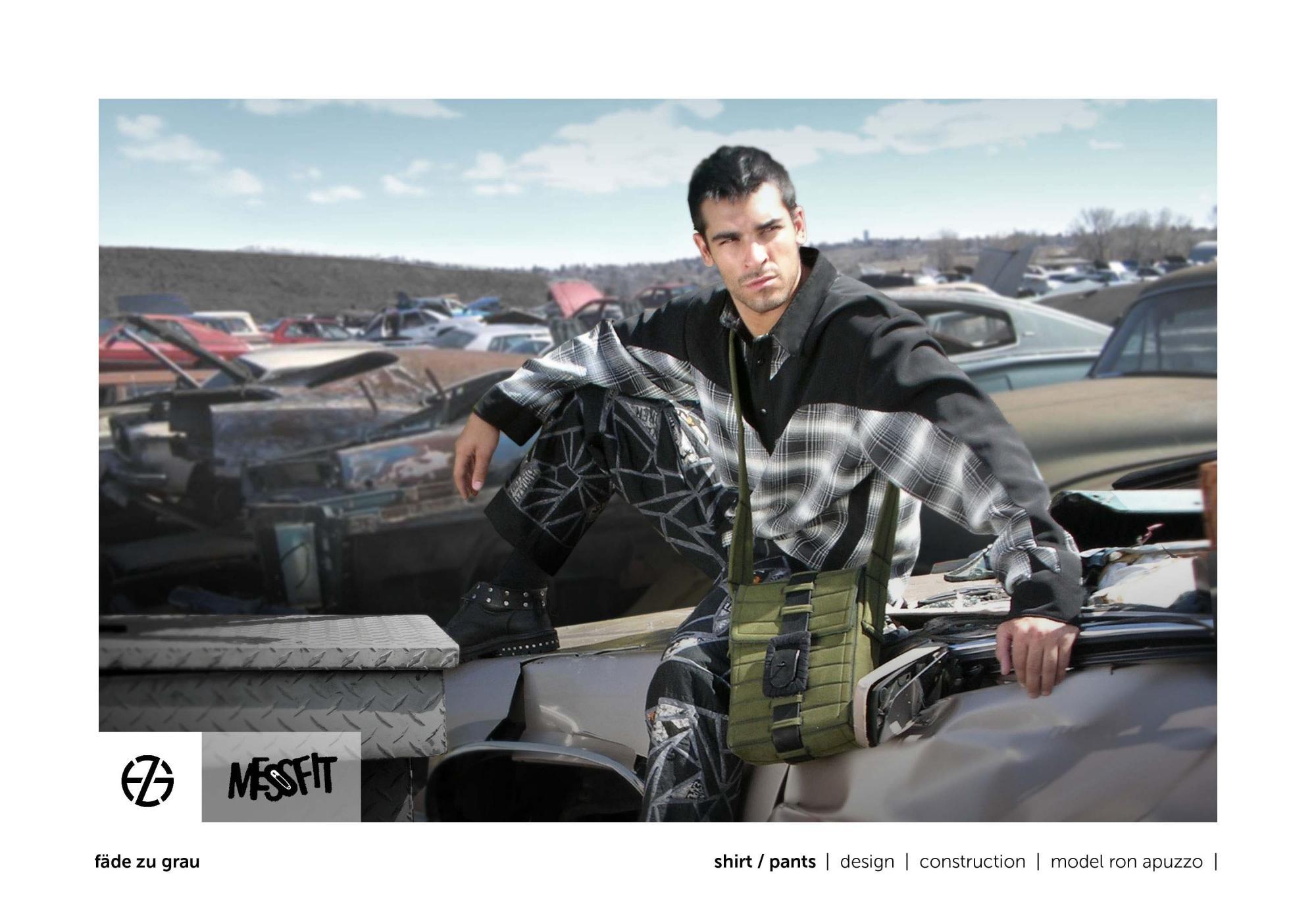 fäde zu grau | photo shoot | shirt, pants, bag