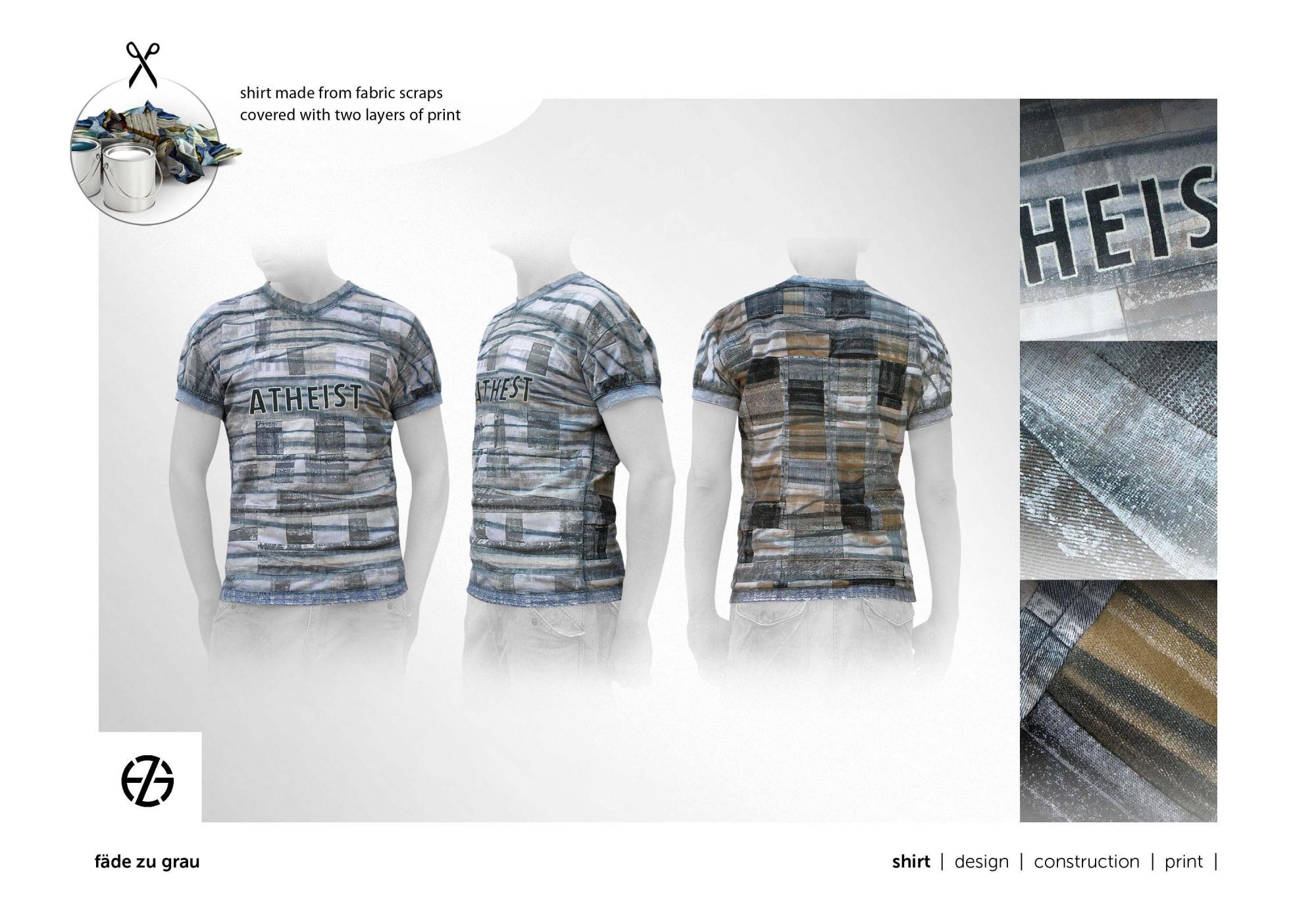 fäde zu grau | shirt 'atheist'