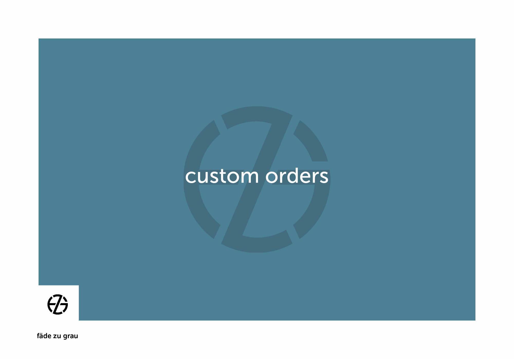fäde zu grau | logo 'custom order'