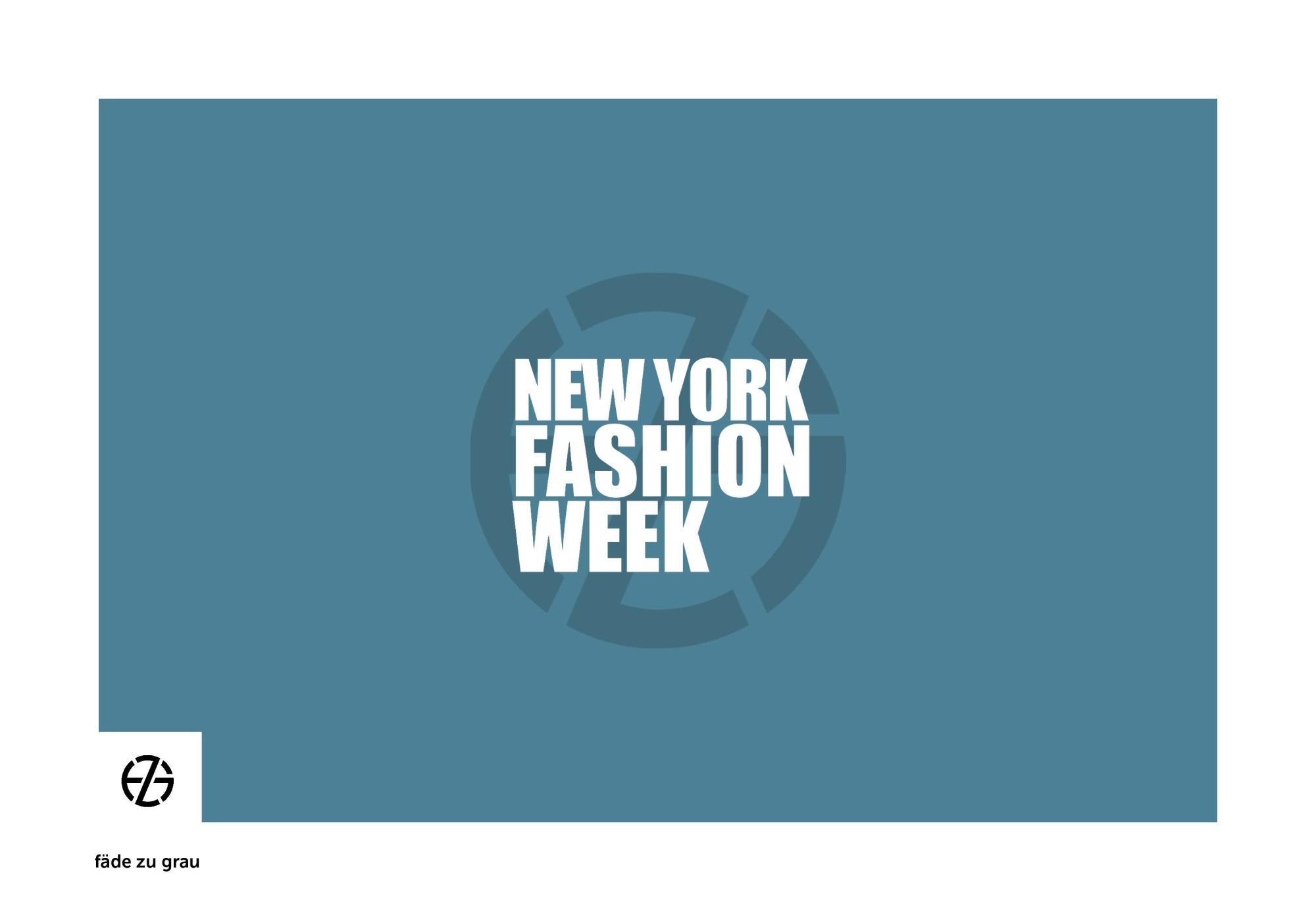 fäde zu grau | logo 'new york fashion week'