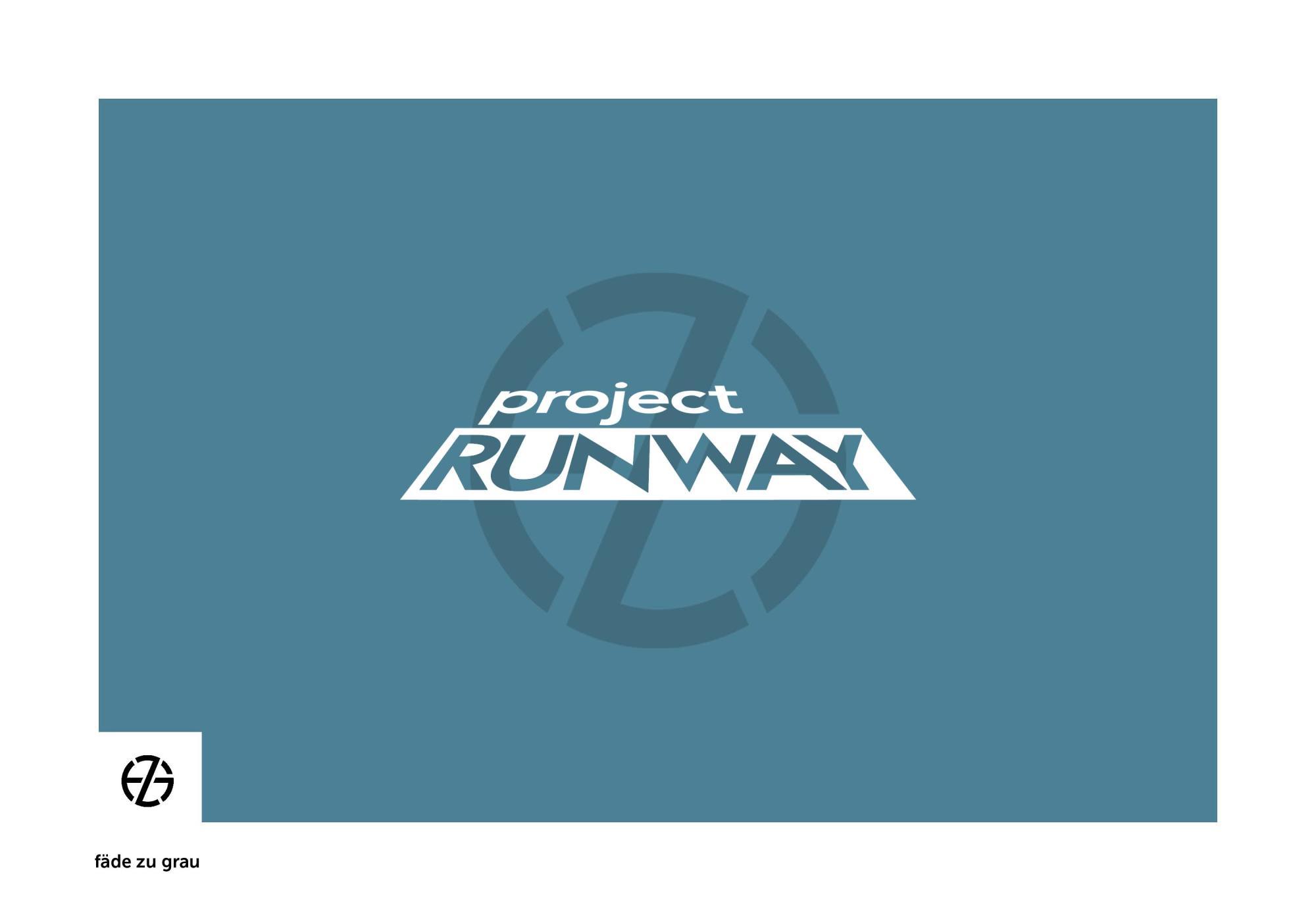 fäde zu grau | logo 'project runway'
