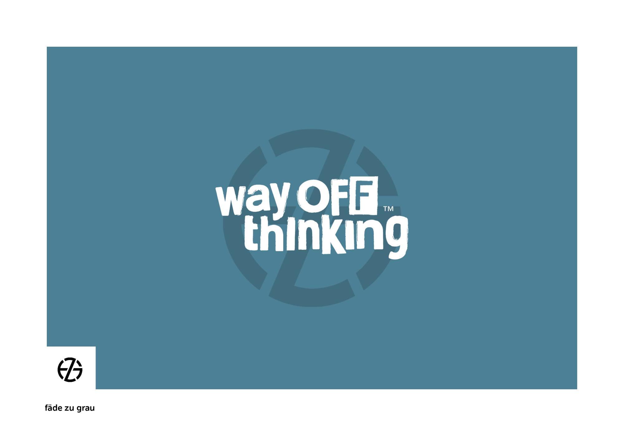 fäde zu grau | logo 'way off thinking'