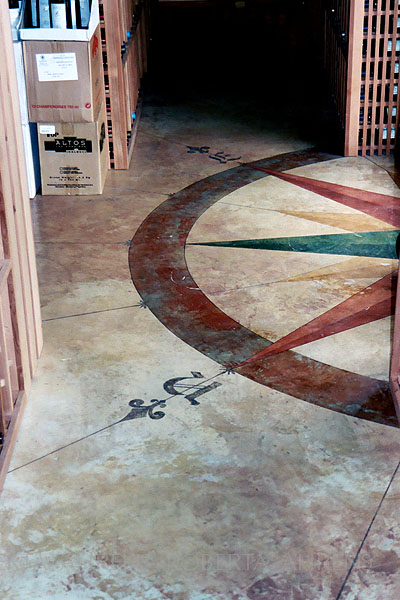 Compass Rose Detail, painted floor