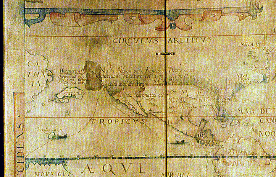 Map of Sir Francis Drakes Voyage
