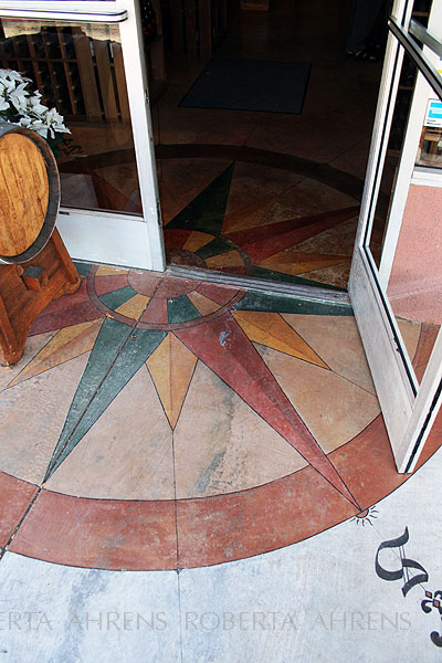 Compass Rose painted Floor detail
