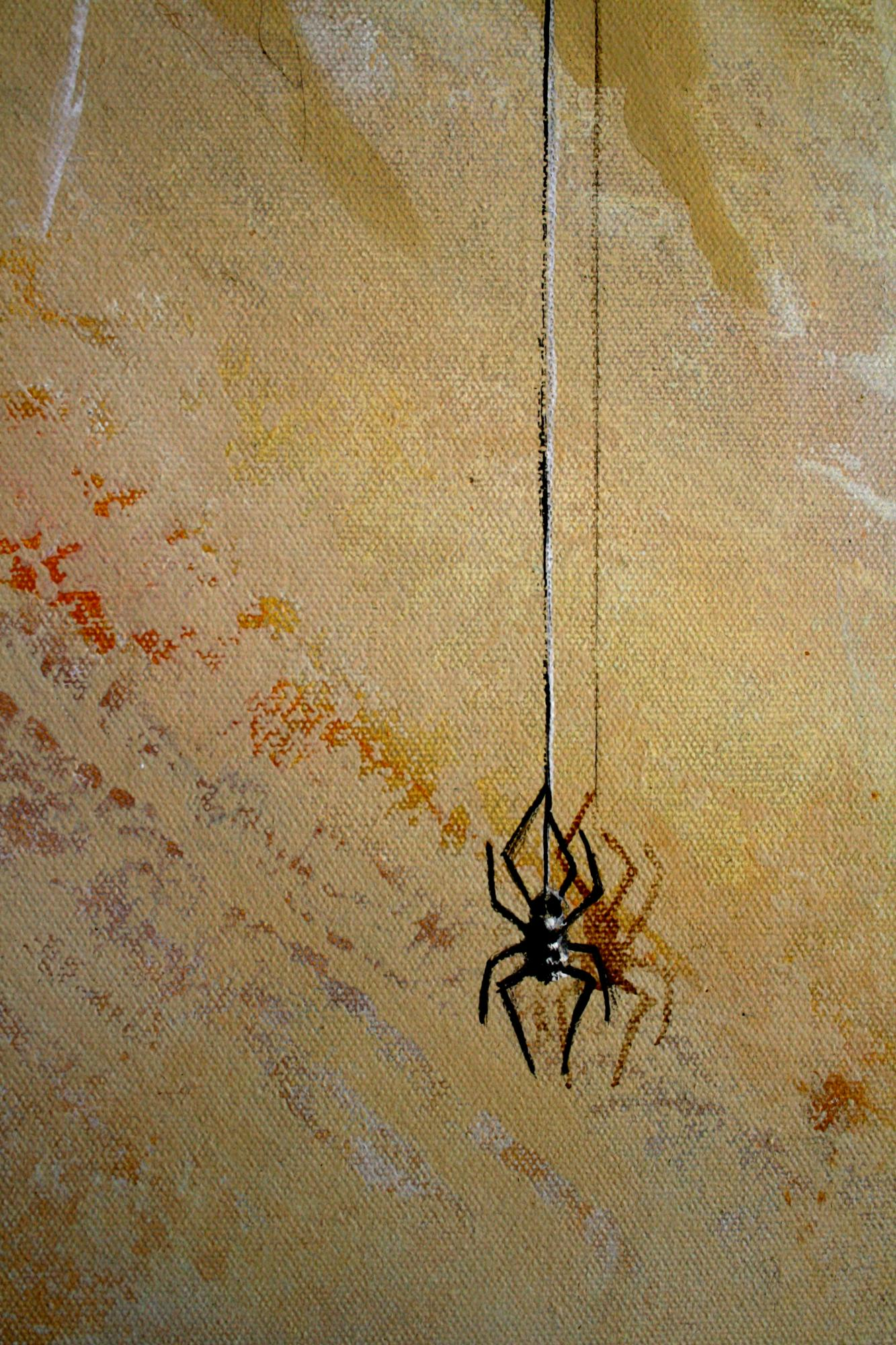 Spider on Faux Marble mural