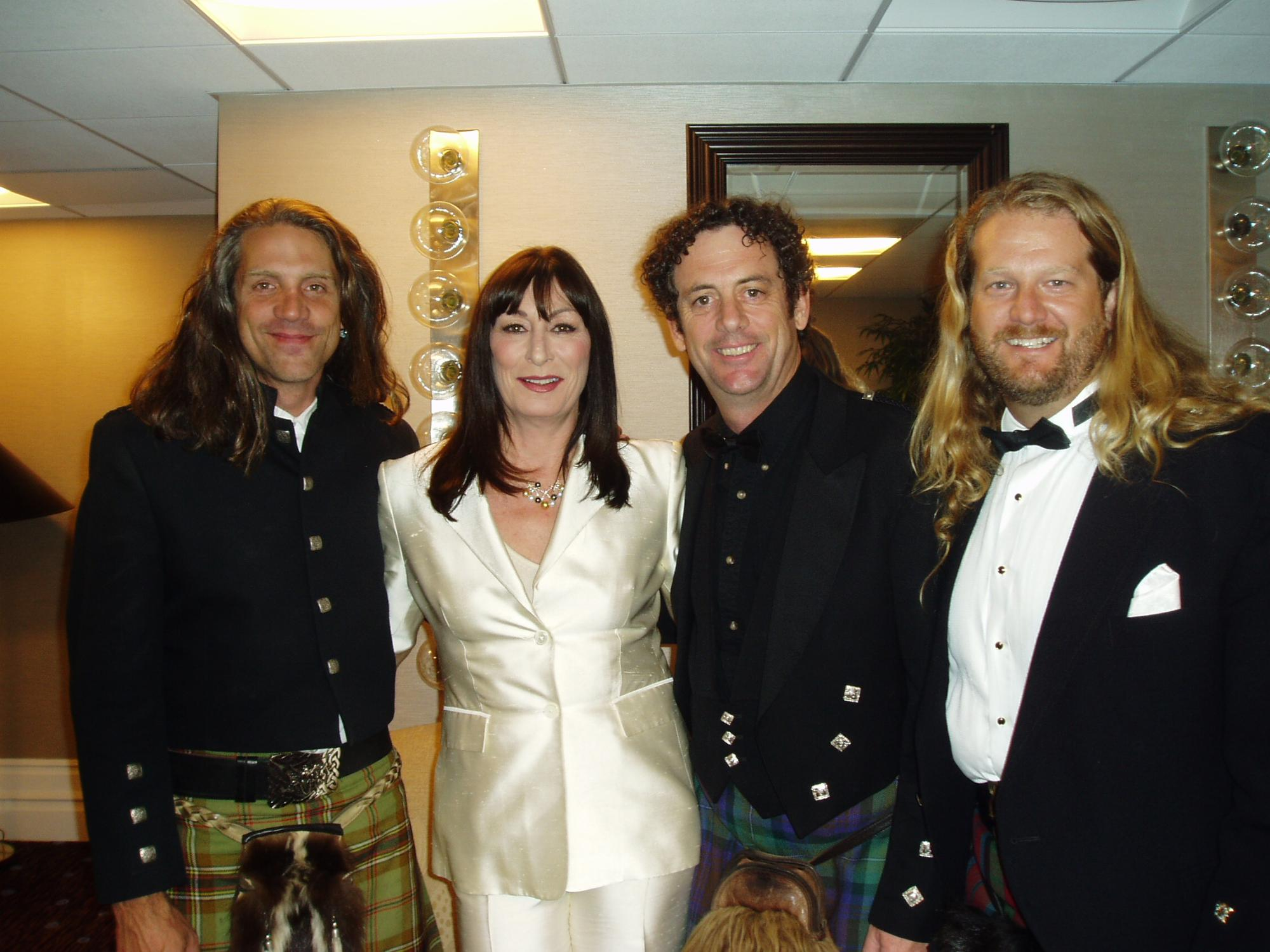 Wicked Tinkers with Angelica Houston at the Brittania Awards November 4th, 2004