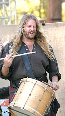Keith with Wicked Tinkers at KVMR Festival 2004
