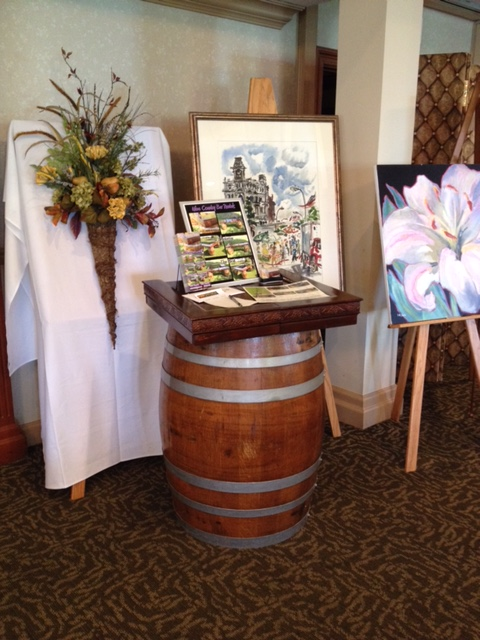 Wine barrel display at Locust Hill Country Club, Rochester, New York.