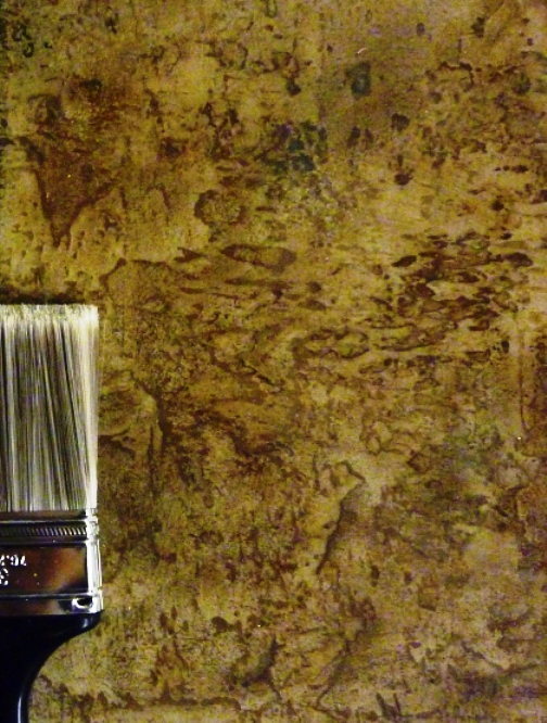 Faux Painted Natural Stone 35