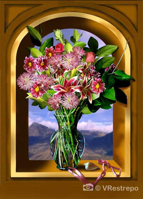 Flowers in a Niche