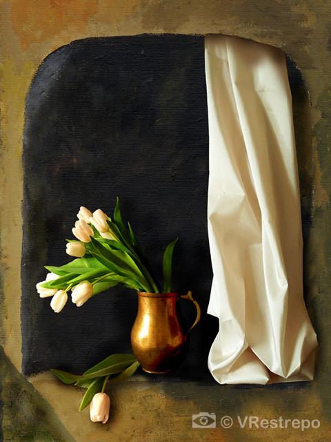 Tulips in a Niche