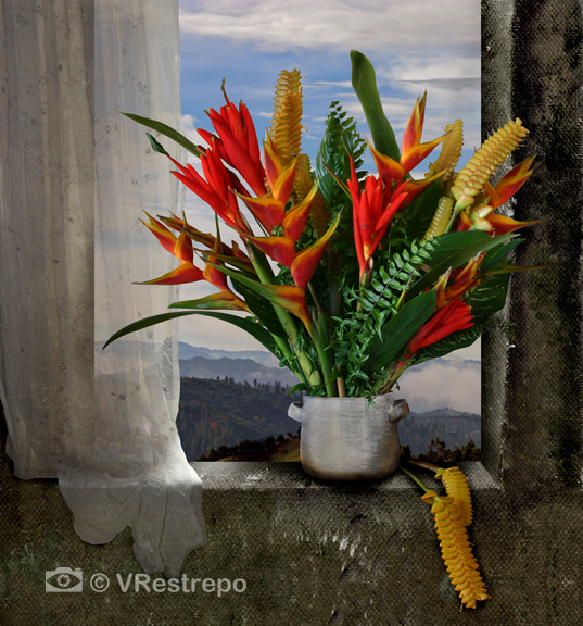 Still life with Tropical Flowers